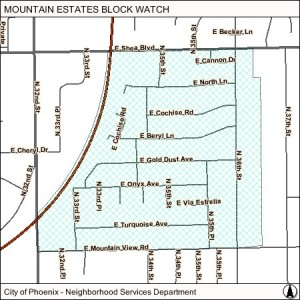 Mountain Estates map