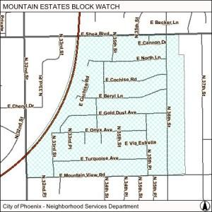 Mountain Estates map