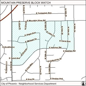 Mountain Preserve blockwatch