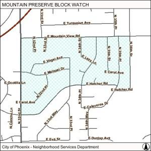 Mountain Preserve blockwatch
