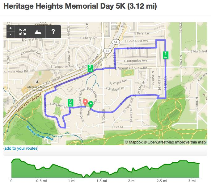 Heritage Heights Memorial Day run